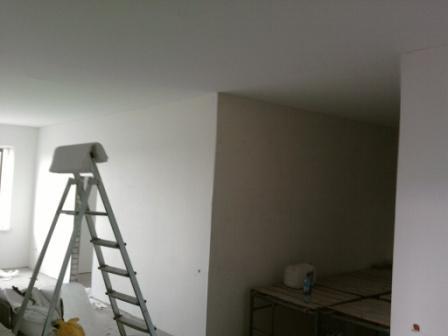 Потолок в сопряженном помещении готов